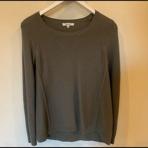 Madewell slim fit army green sweater!